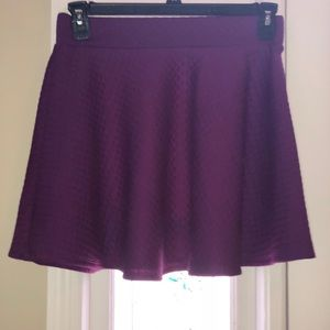 🔥3/$27🔥 Lily Star Purple quilted skater skirt.